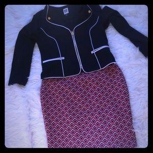 Loft pull on skirt